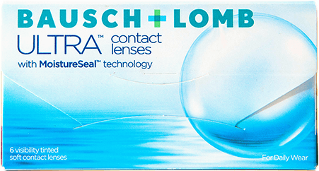 Bausch & Lomb Ultra Lenses packaging