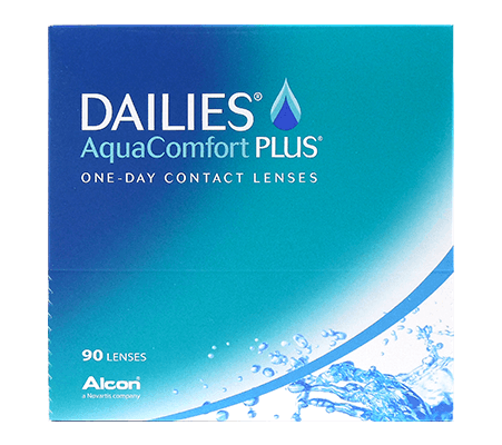 Dailies AquaComfort Plus contact lens package