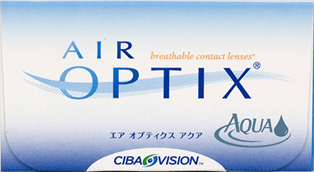 Air Optix Aqua contact lens packaging