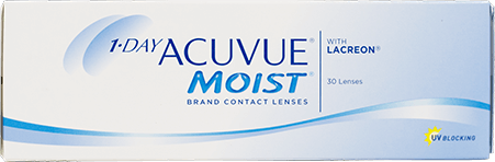 1 Day Acuvue Moist contact lens box